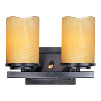Luminous 2 Light 11 inch Rustic Ebony Bath Light Wall Light