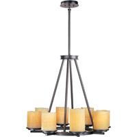 Maxim 21145SCRE Luminous 8 Light 29 inch Rustic Ebony Single Tier Chandelier Ceiling Light