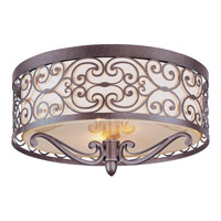 Mondrian 2 Light 14 inch Umber Bronze Flush Mount Ceiling Light