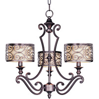 Maxim 21153WHUB Mondrian 3 Light 25 inch Umber Bronze Single Tier Chandelier Ceiling Light