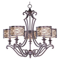 Mondrian 5 Light 28 inch Umber Bronze Single Tier Chandelier Ceiling Light