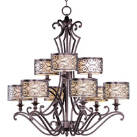 Maxim Lighting Mondrian 9 Light Multi-Tier Chandelier in Umber Bronze 21156WHUB
