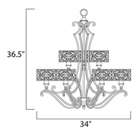Maxim 21156WHUB Mondrian 9 Light 34 inch Umber Bronze Multi-Tier Chandelier Ceiling Light  alternative photo thumbnail