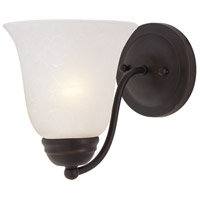 Basix 1 Light 6 inch Oil Rubbed Bronze Wall Sconce Wall Light in Ice