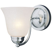 Maxim 2120ICPC Basix 1 Light 6 inch Polished Chrome Wall Sconce Wall Light in Ice