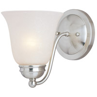 Maxim Lighting Basix 1 Light Wall Sconce in Satin Nickel 2120ICSN