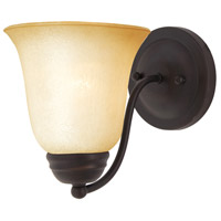 Basix 1 Light 6 inch Oil Rubbed Bronze Wall Sconce Wall Light in Wilshire