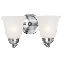 Maxim 2121FTPC Basix 2 Light 14 inch Polished Chrome Wall Sconce Wall Light in Frosted
