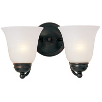 Basix 2 Light 14 inch Oil Rubbed Bronze Wall Sconce Wall Light in Ice