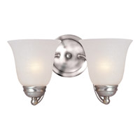 Maxim Lighting Basix 2 Light Wall Sconce in Satin Nickel 2121ICSN