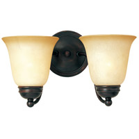 Maxim Lighting Basix 2 Light Wall Sconce in Oil Rubbed Bronze 2121WSOI