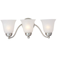 Maxim Lighting Basix 3 Light Bath Light in Satin Nickel 2122ICSN
