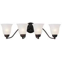 Maxim Lighting Basix 4 Light Bath Light in Oil Rubbed Bronze 2123ICOI