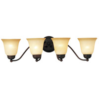 Maxim Lighting Basix 4 Light Bath Light in Oil Rubbed Bronze 2123WSOI