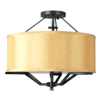 Maxim Lighting Avant 3 Light Semi Flush Mount in Golden Auburn 21251CHGA
