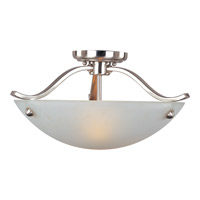 Contour 2 Light 18 inch Satin Nickel Semi Flush Mount Ceiling Light