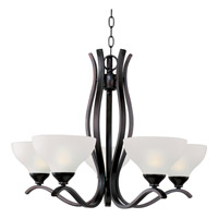 Contour 5 Light 27 inch Oil Rubbed Bronze Single Tier Chandelier Ceiling Light