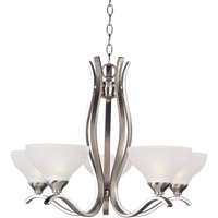 Contour 5 Light 27 inch Satin Nickel Single Tier Chandelier Ceiling Light