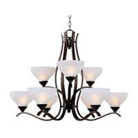 Maxim Lighting Contour 9 Light Multi-Tier Chandelier in Oil Rubbed Bronze 21266FTOI