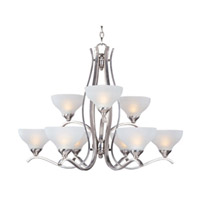 Maxim Lighting Contour 9 Light Multi-Tier Chandelier in Satin Nickel 21266FTSN