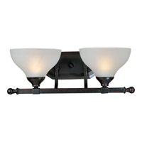 Maxim Lighting Contour 2 Light Bath Light in Oil Rubbed Bronze 21272FTOI