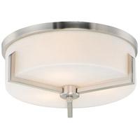 Maxim 21280SWSN Dart 3 Light 14 inch Satin Nickel Flush Mount Ceiling Light