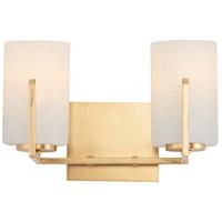 Maxim 21282SWSBR Dart 2 Light 13 inch Satin Brass Vanity Light Wall Light