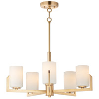 Maxim 21286SWSBR Dart 5 Light 26 inch Satin Brass Chandelier Ceiling Light