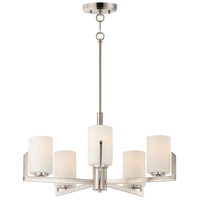Maxim 21286SWSN Dart 5 Light 26 inch Satin Nickel Chandelier Ceiling Light