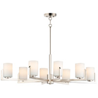 Maxim 21288SWSN Dart 8 Light 28 inch Satin Nickel Chandelier Ceiling Light
