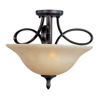 Maxim 21302WSOI Infinity 3 Light 18 inch Oil Rubbed Bronze Semi Flush Mount Ceiling Light