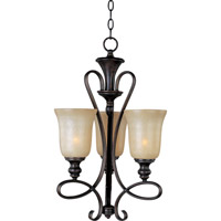 Maxim 21304WSOI Infinity 3 Light 16 inch Oil Rubbed Bronze Mini Chandelier Ceiling Light