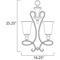 Maxim 21304WSOI Infinity 3 Light 16 inch Oil Rubbed Bronze Mini Chandelier Ceiling Light alternative photo thumbnail