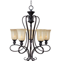 Maxim 21305WSOI Infinity 5 Light 25 inch Oil Rubbed Bronze Single Tier Chandelier Ceiling Light