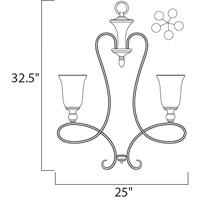 Maxim 21305WSOI Infinity 5 Light 25 inch Oil Rubbed Bronze Single Tier Chandelier Ceiling Light alternative photo thumbnail