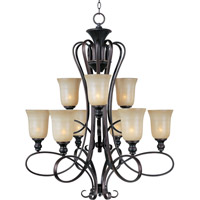Infinity 9 Light 33 inch Oil Rubbed Bronze Multi-Tier Chandelier Ceiling Light
