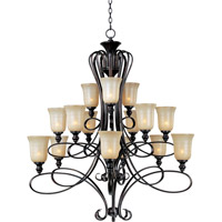 Maxim 21307WSOI Infinity 15 Light 49 inch Oil Rubbed Bronze Multi-Tier Chandelier Ceiling Light