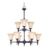 Maxim Lighting Bristol 9 Light Multi-Tier Chandelier in Black Gold 21326JFBG