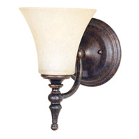 Maxim Lighting Bristol 1 Light Wall Sconce in Black Gold 21327JFBG