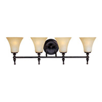 Maxim Lighting Bristol 4 Light Bath Light in Black Gold 21330JFBG