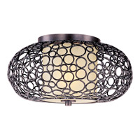 Meridian 1 Light 17 inch Umber Bronze Flush Mount Ceiling Light