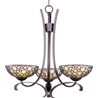Maxim Lighting Meridian 3 Light Single Tier Chandelier in Umber Bronze 21343DWUB