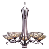 Meridian 5 Light 34 inch Umber Bronze Single Tier Chandelier Ceiling Light