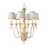 Maxim Lighting French Country 6 Light Single-Tier Chandelier in French Floral 21435CCFF photo thumbnail