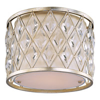 Diamond 1 Light 13 inch Golden Silver Flush Mount Ceiling Light