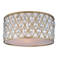 Diamond 3 Light 18 inch Golden Silver Flush Mount Ceiling Light