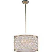 Maxim Lighting Diamond 3 Light Pendant in Golden Silver 21455OFGS