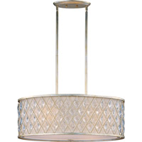 Diamond 4 Light 15 inch Golden Silver Pendant Ceiling Light