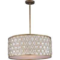 Diamond 4 Light 24 inch Golden Silver Pendant Ceiling Light