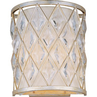 Diamond 2 Light 9 inch Golden Silver Wall Sconce Wall Light